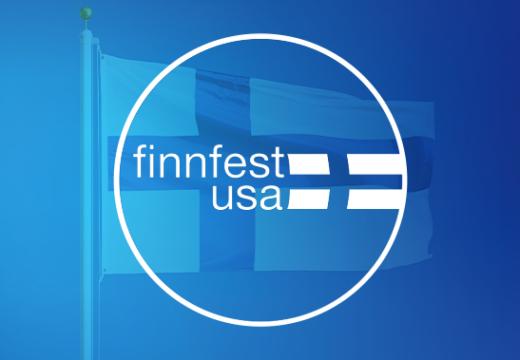 FinnFest USA logo and flag